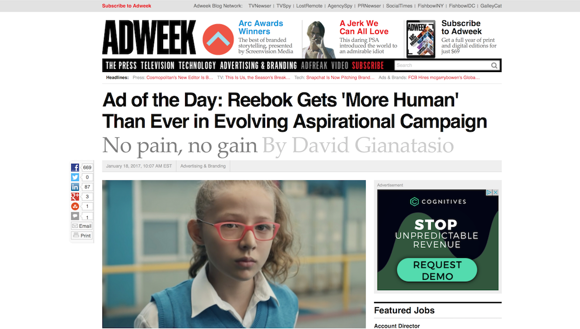 Adweek's Ad of the Day