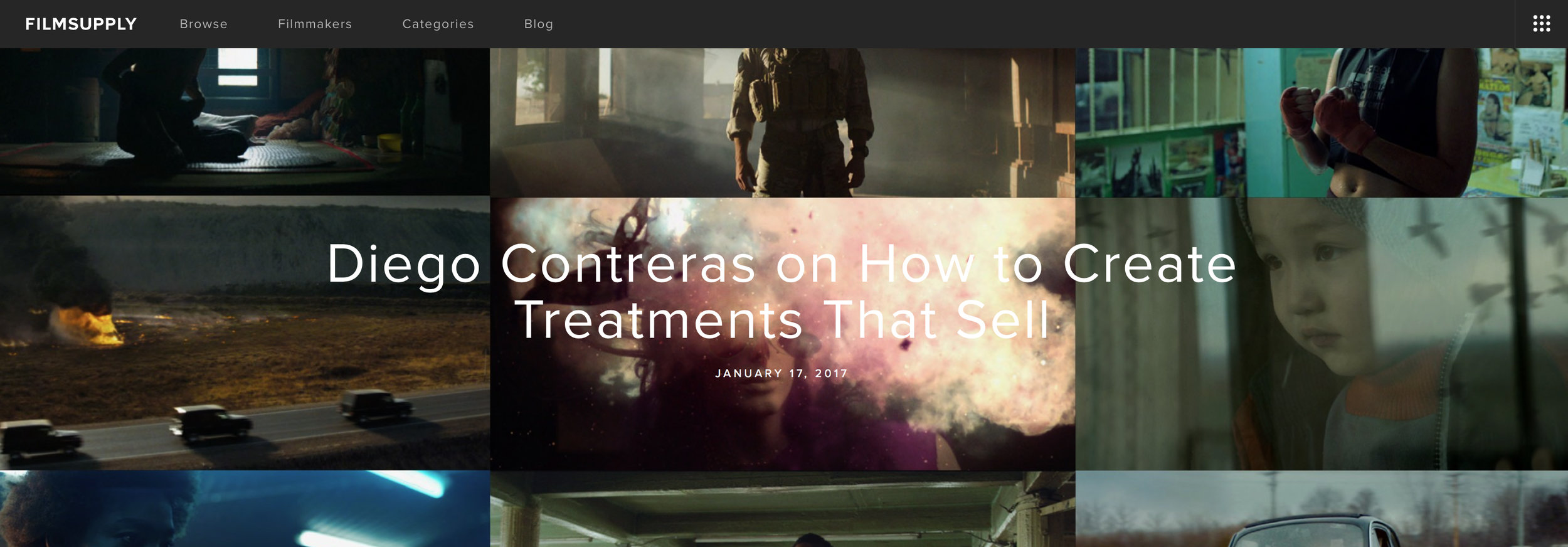 Check out my guest blog post on  Film Supply  on the art of making director treatments.