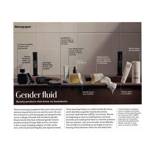 All our faves. @makebeautyofficial @fur_you @orvedaskincare in @wallpapermag thank you @pei_ru_keh