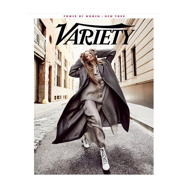 @gigihadid looking 🔥 in @azlee_ on the cover of @variety thank you @andrew_shang @elmercer