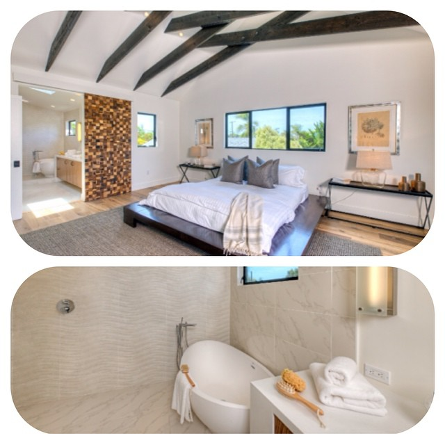 #Remodeled #houses, Venice, CA. Master bedroom leading to beautiful modern master bath. Financing by #CrosswindFinancial