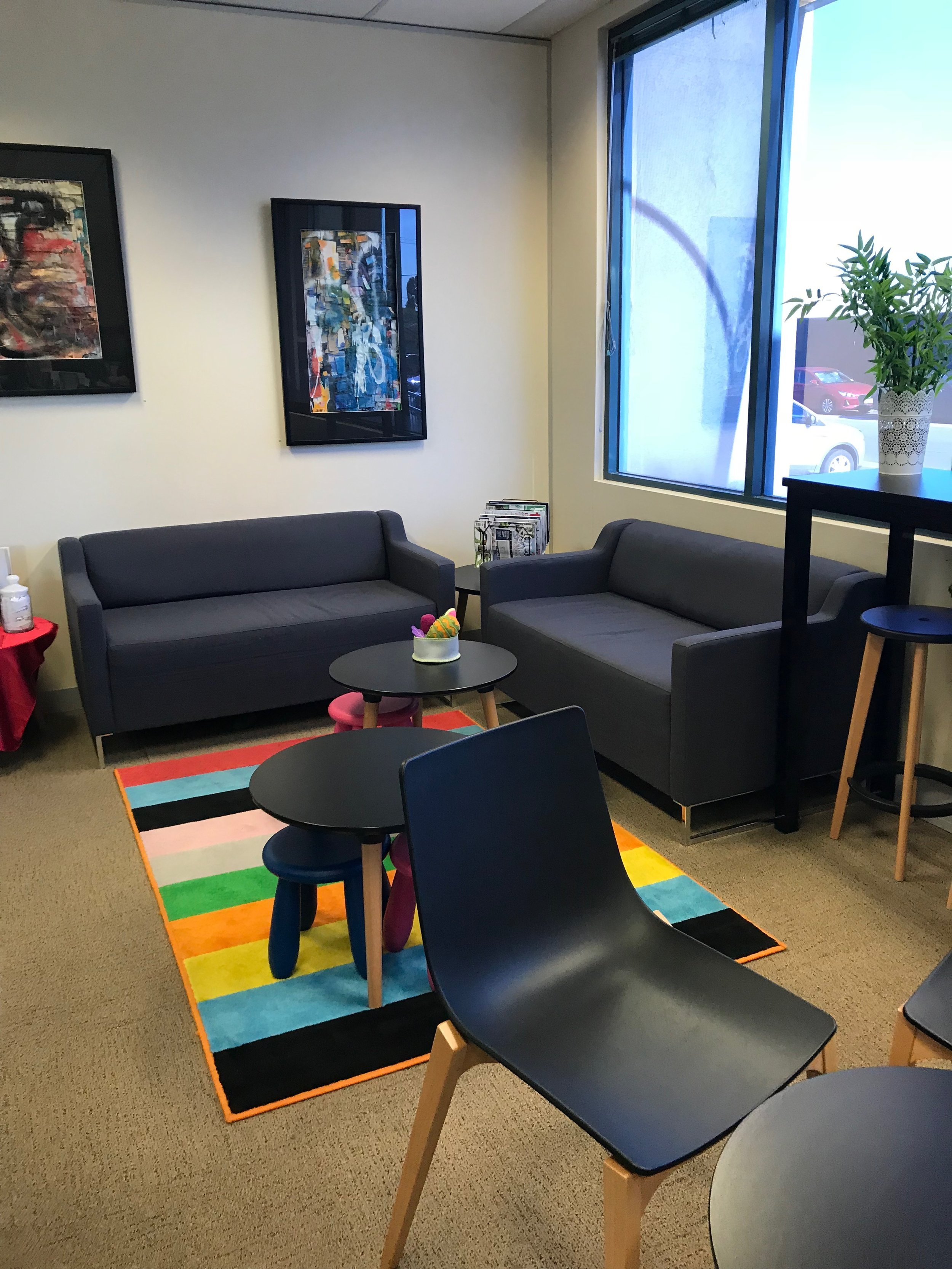 The entry includes a lounge and social enterprise cafe, a soft entry point for the community to access services as well as just a nice space to be!