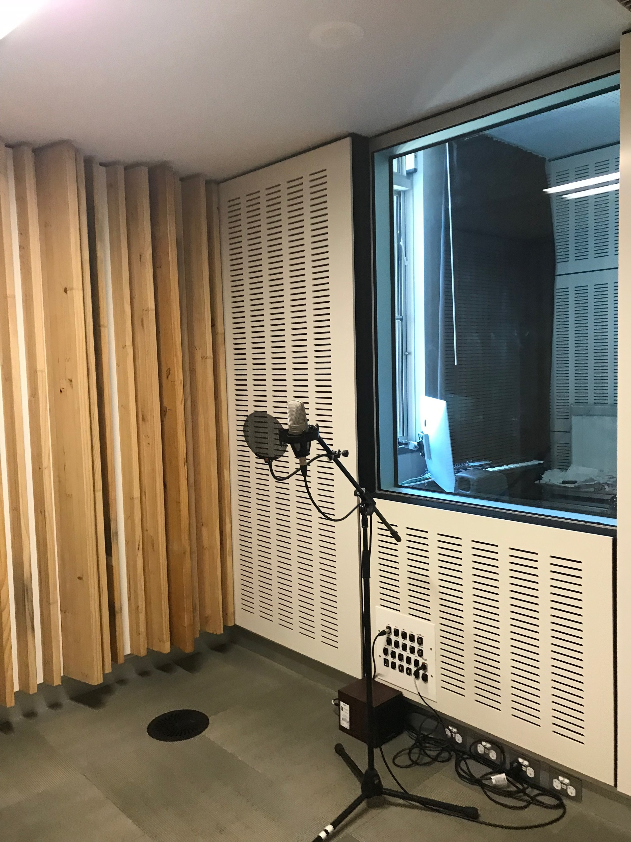The recording room is used by young people, as well as for local history recordings.