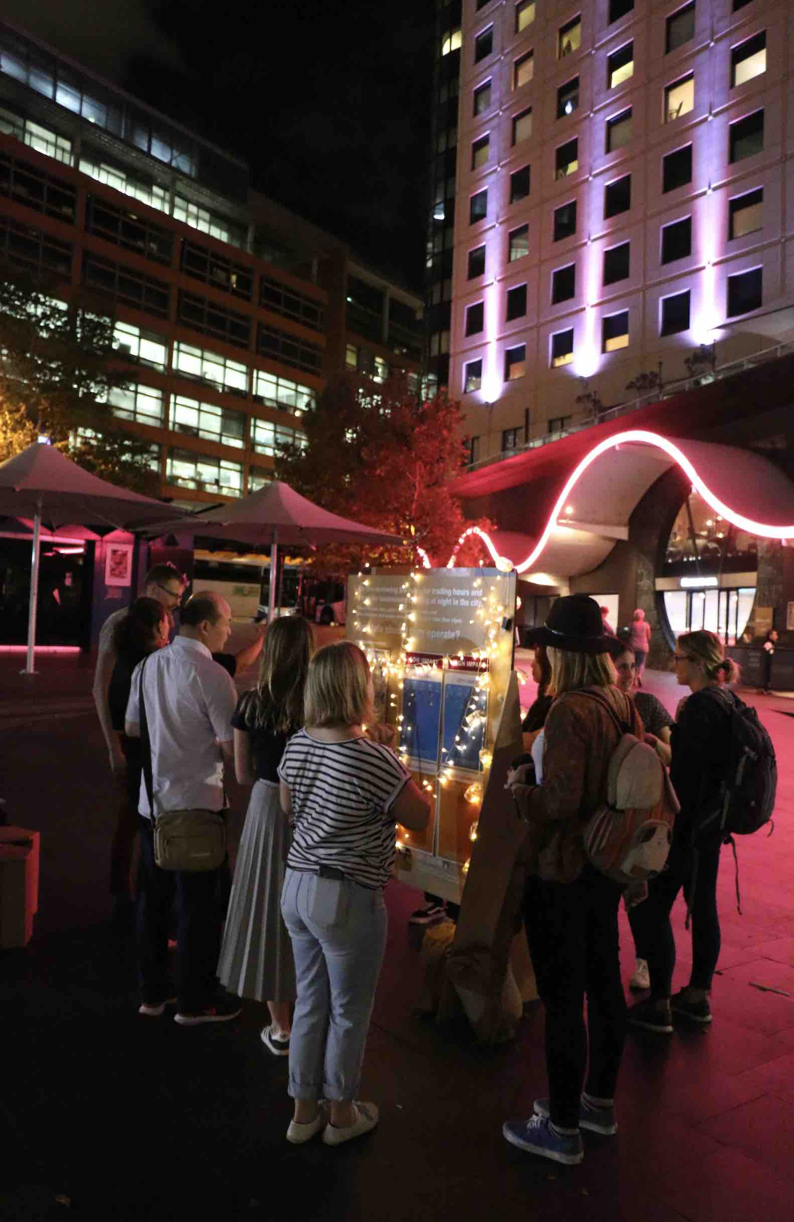 City of Sydney Late Night Trading Hours and Areas Pop up Stall