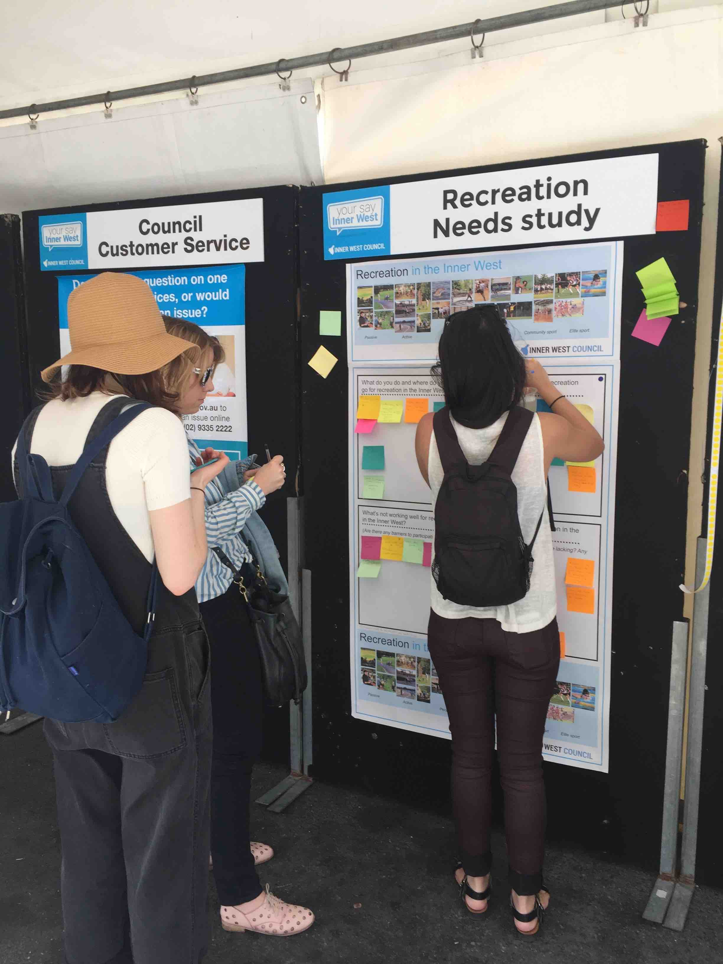Inner West Recreation Needs Study pop up engagement