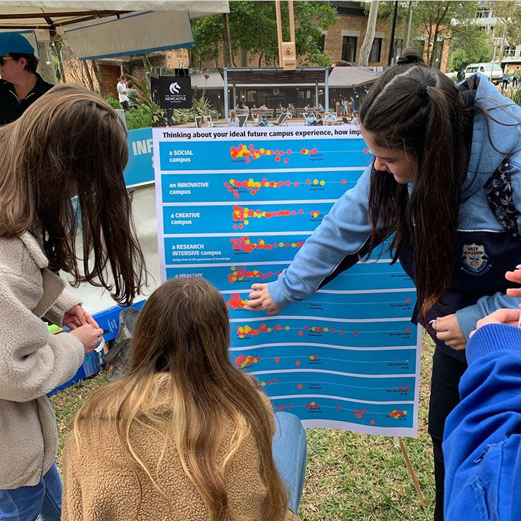 Pop up activity at University of Newcastle Open Day 2019