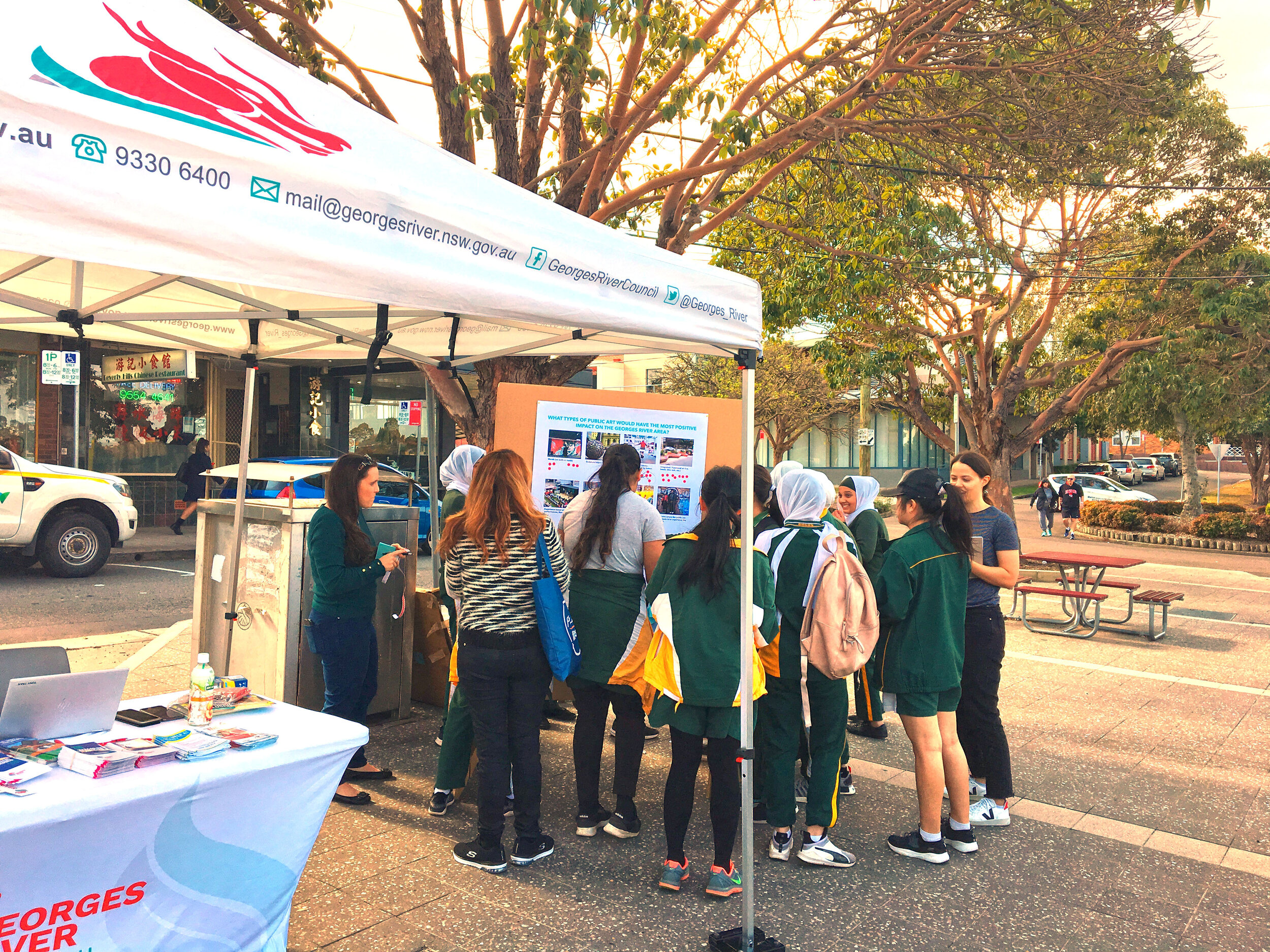 Georges River Cultural Needs Assessment - community engagement pop up in Beverly Hills