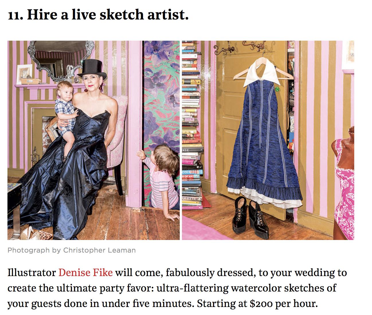 Hire a live sketch artist Denise Fike