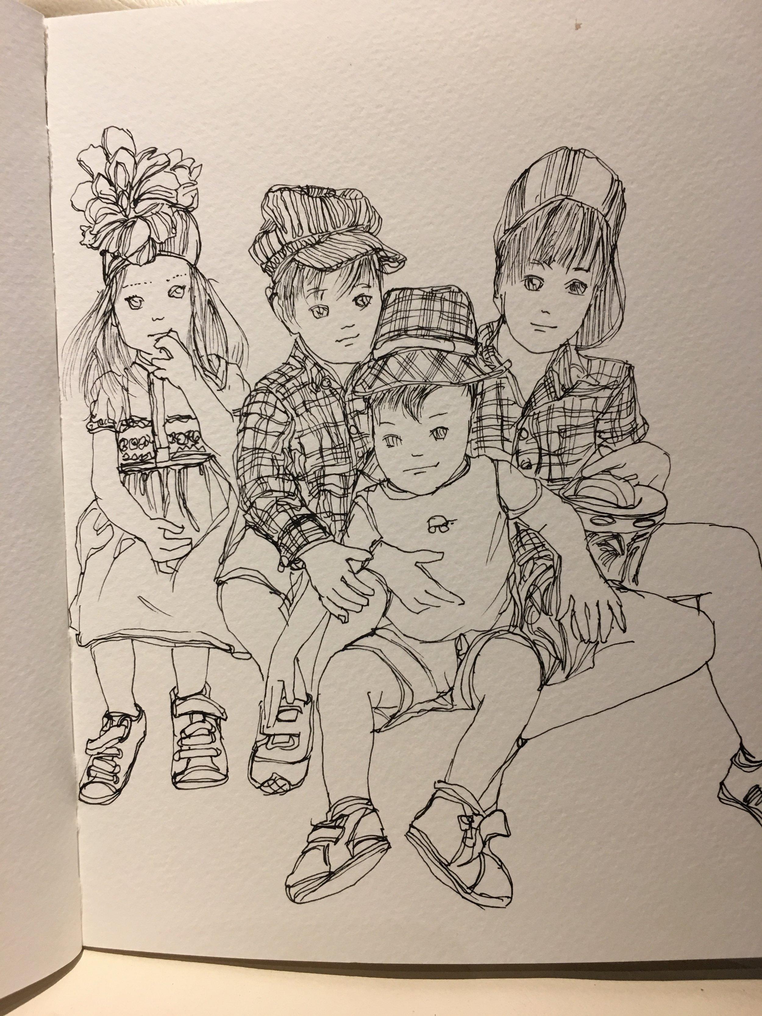 Denise Fike Kid's Party Illustration