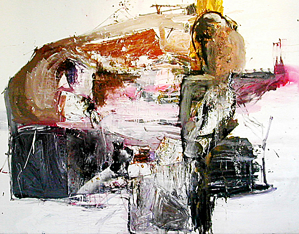 1a- 66x84 in; oil, latex, mixed media on canvas; 2005 - Private Collection