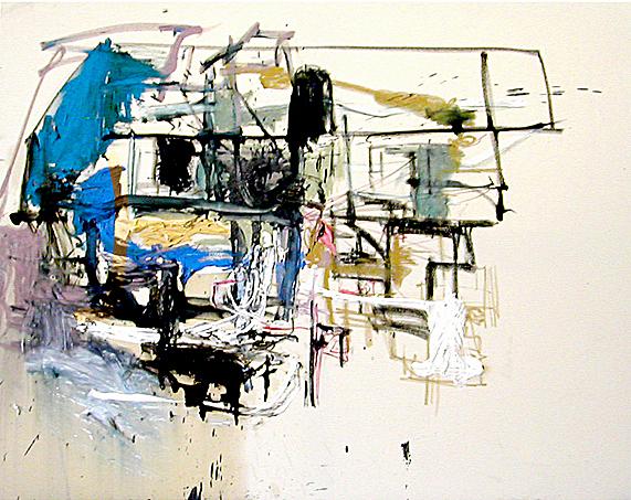 2a- 48x60 in; oil, pastel on canvas; 2005 - CAA Century City