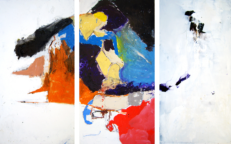 Alex- 96x144 in; oil, acrylic, mixed media on panels; 2007 - Private Collection