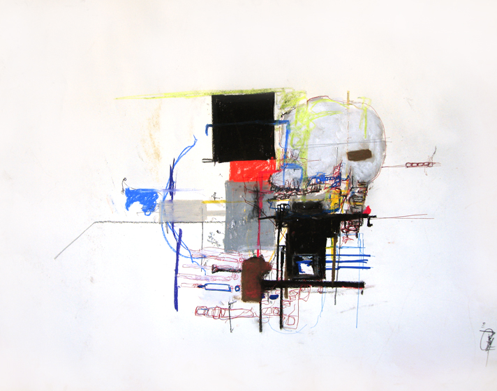 Cocaine- 18x24 in; pastel, pen, colored pencil, oil, conté on paper; 2010