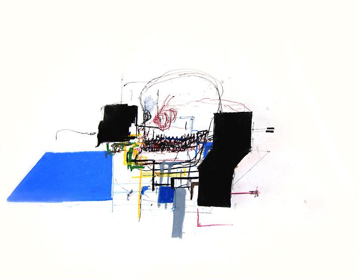 Tommy 1.7- 18x24 in; pastel, pen, conté on paper; 2010