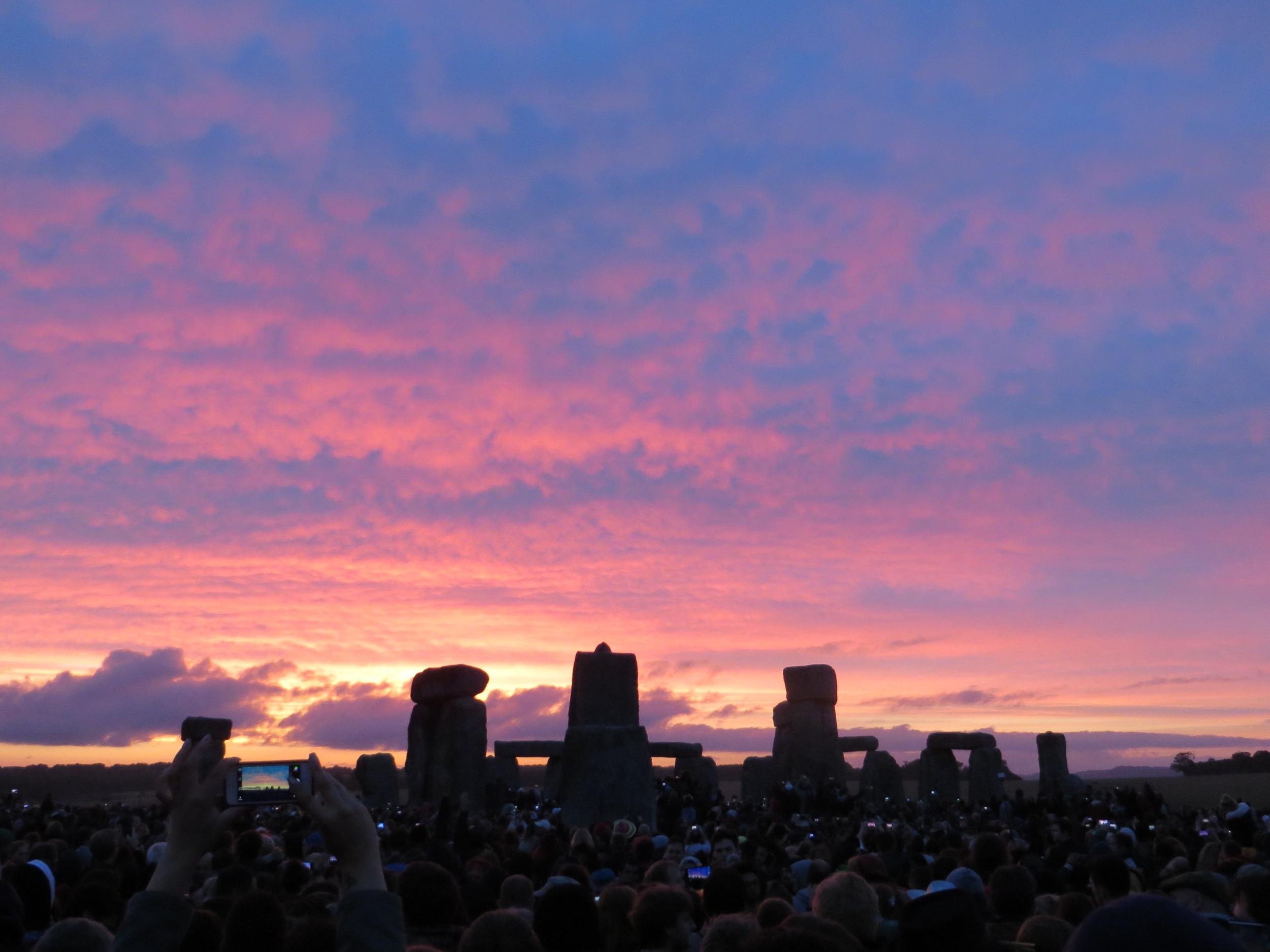 Sunrise at Stonhenge 21 June 2015