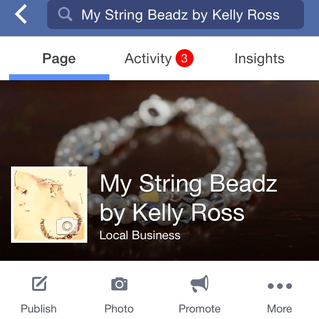 What my business fb page looks like.