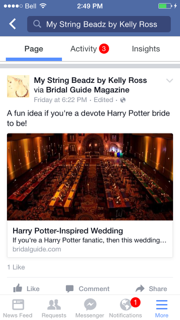 An interesting and fun article for Brides to be!  I posted this for all the devote HP fans!!