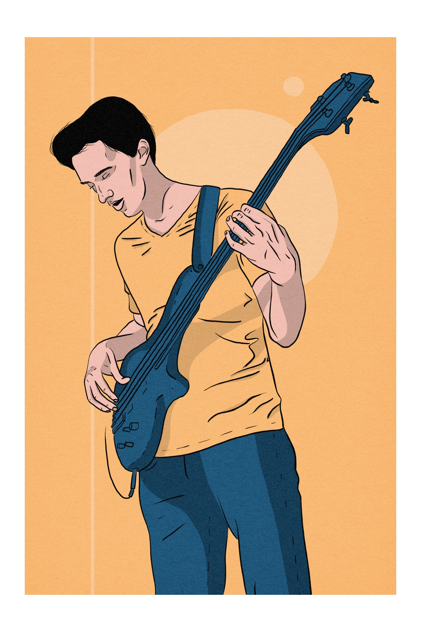 Portrait of musician Evan Knapp.