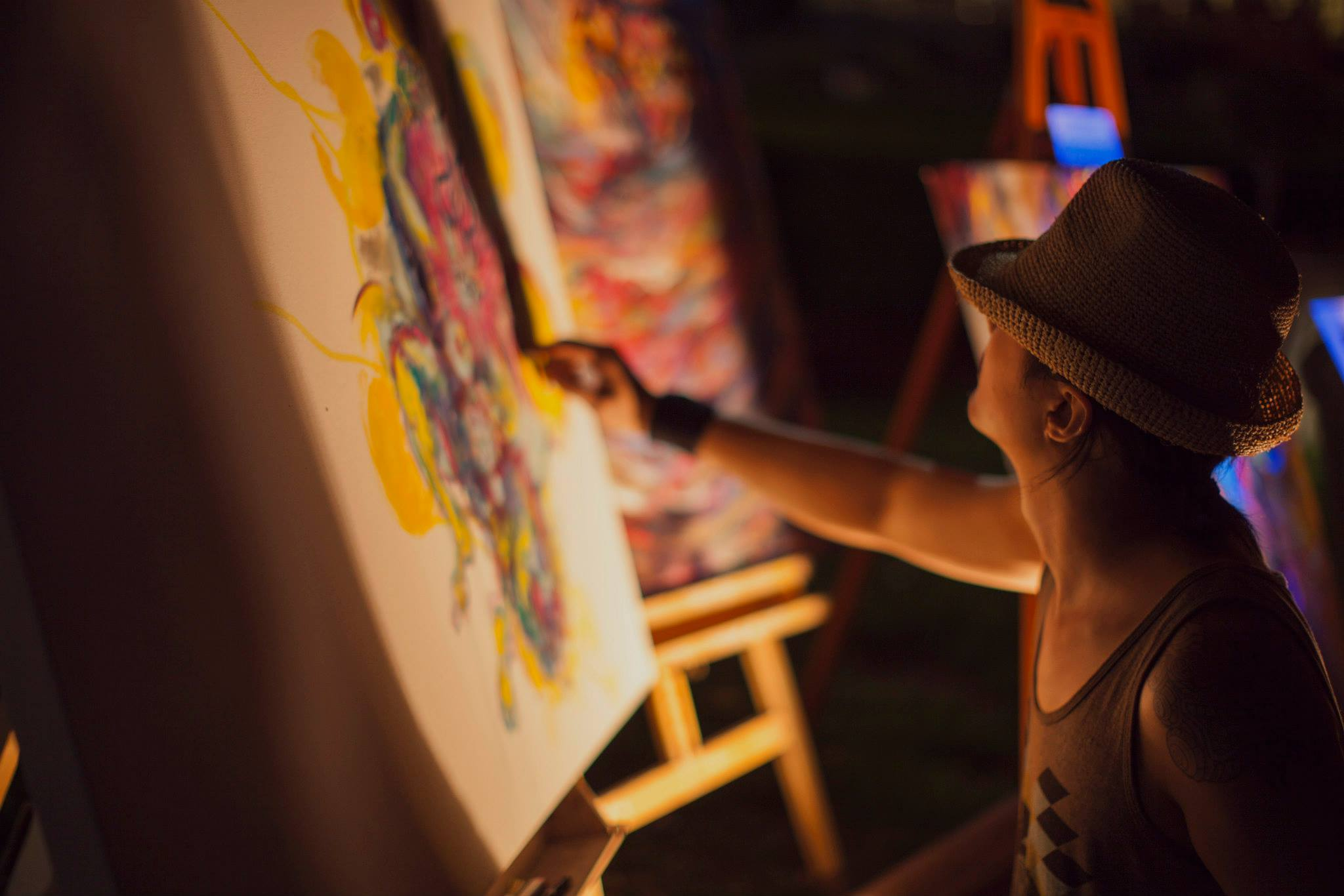 Artists showcase their work in the 626 Art Walk at every 626 Night Market and OC Night Market. | Photo by R. Cheng