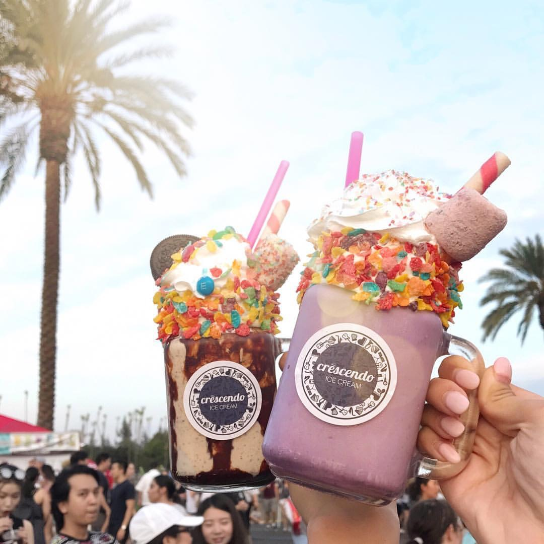 Ube and Oreo Crazyshakes from Crescendo Ice Cream