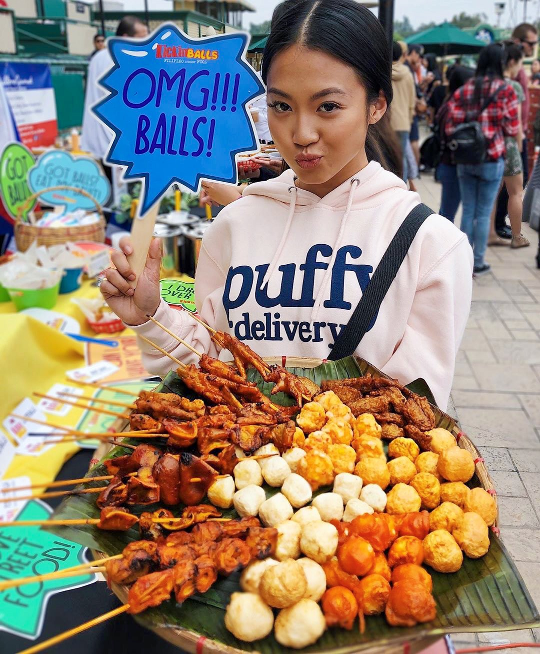 Filipino street food spread with food porn YouTuber  @twaydabae .