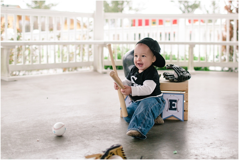 © 2017 Stephanie Alys Photography | Tomball TX Family Photographer • Train Depot Cake Smash | The Cutest White Sox Fan