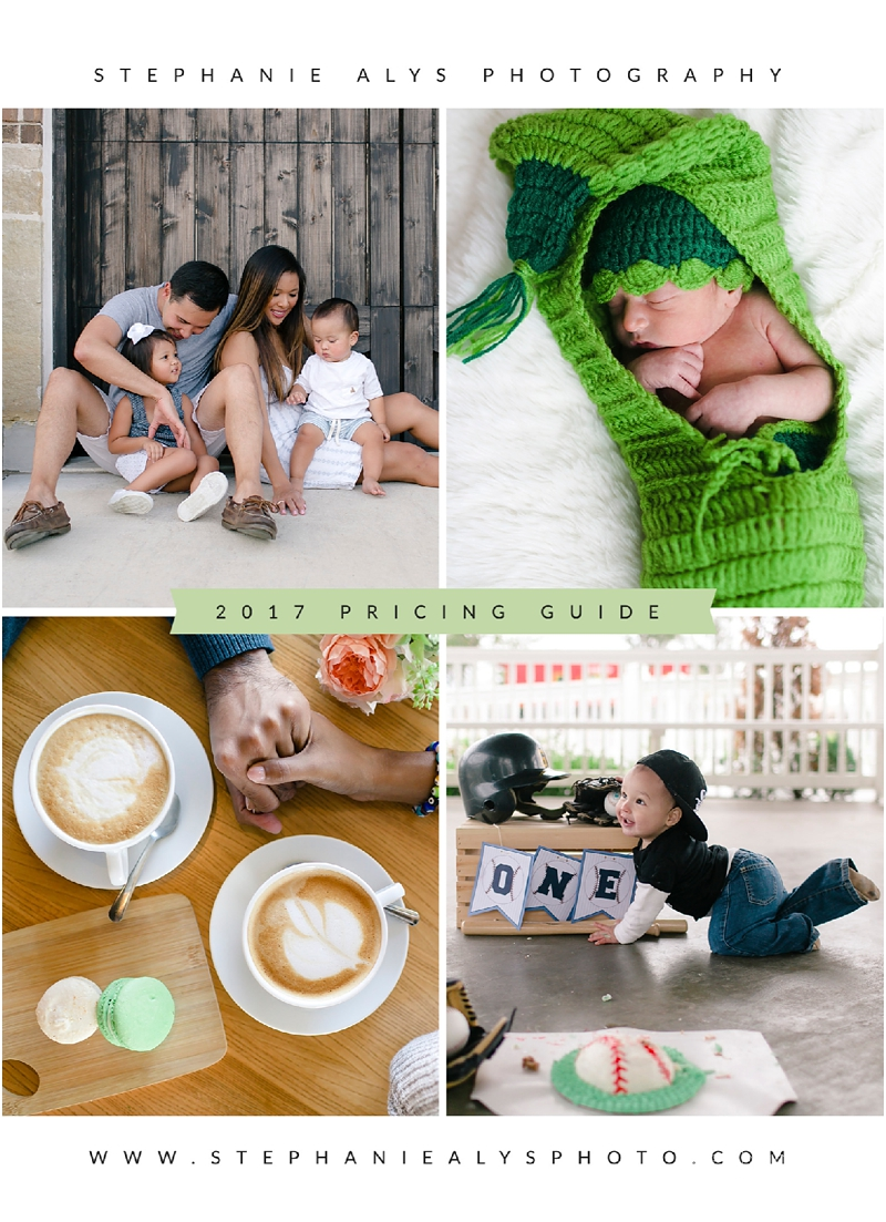 Cypress TX Photographer | Stephanie Alys Photography » Blog » Now Available: 2017 Pricing Guide