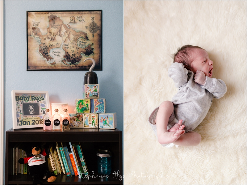 © 2018 Stephanie Alys Photography | Blog » Baby G • Neverland's Nursery • Cypress, TX Newborn Photographer
