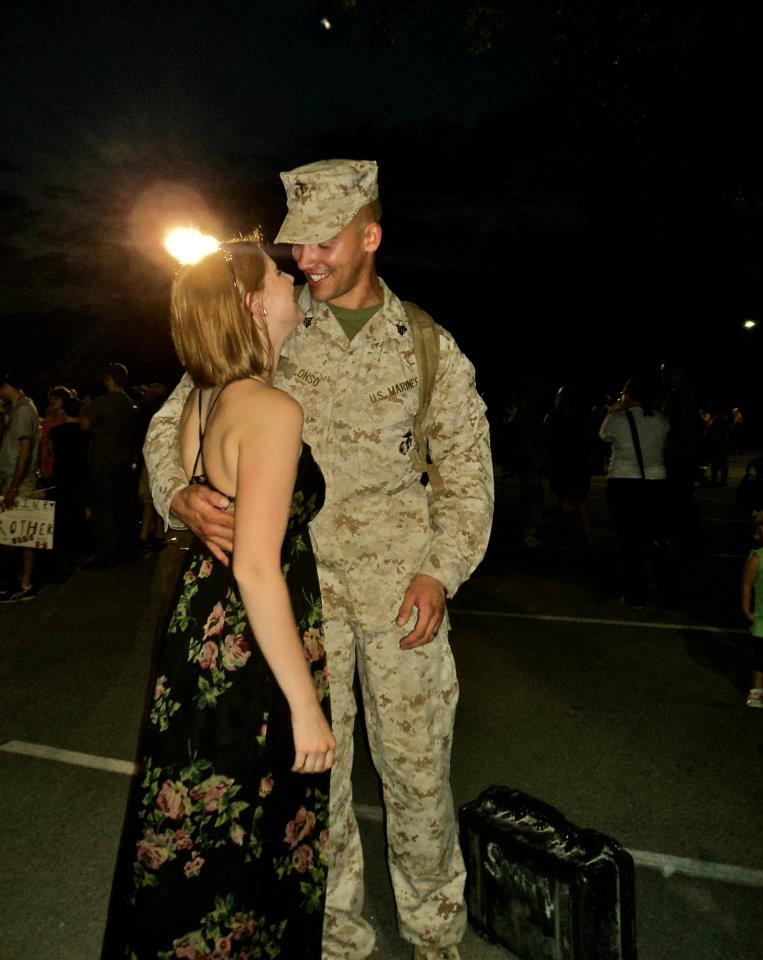 "Aaron's 2nd homecoming from Afghanistan, back when things were ""normal""."