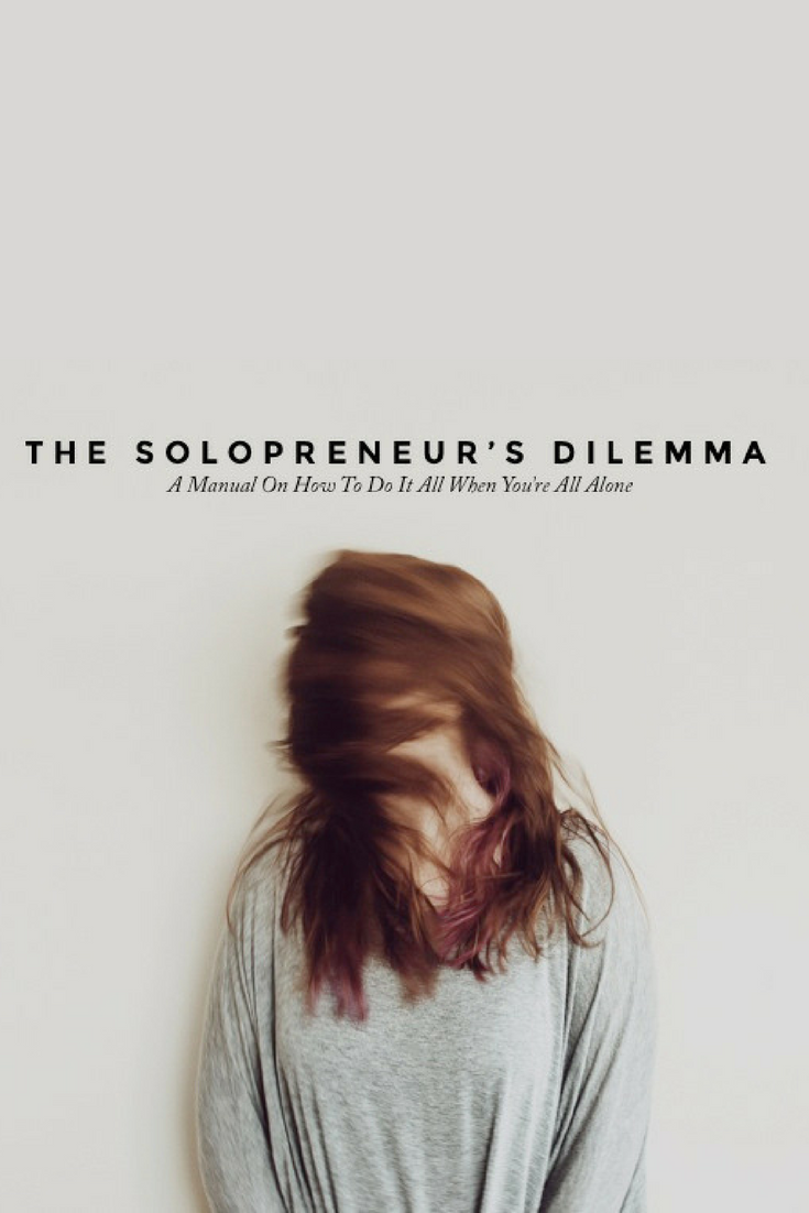 The Solopreneur's Dilemma: a manual on how to do it all when you're all alone: - When you're a solo entrepreneur, it can be totally overwhelming wearing all those hats. This digital download is the savior you've been waiting for. In the Solopreneur's Dilemma, we tackle:-The top 10 free tools to get organized instantly-30 ways to get on track in 30 days-Find the perfect organizational system so that you can tackle your to do list -and more!