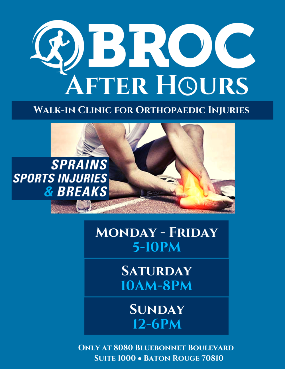 AFTER HOURS — Baton Rouge Orthopaedic Clinic