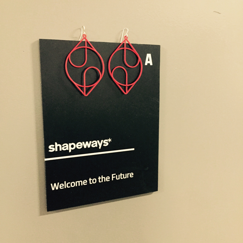 Earrings from #shapeways