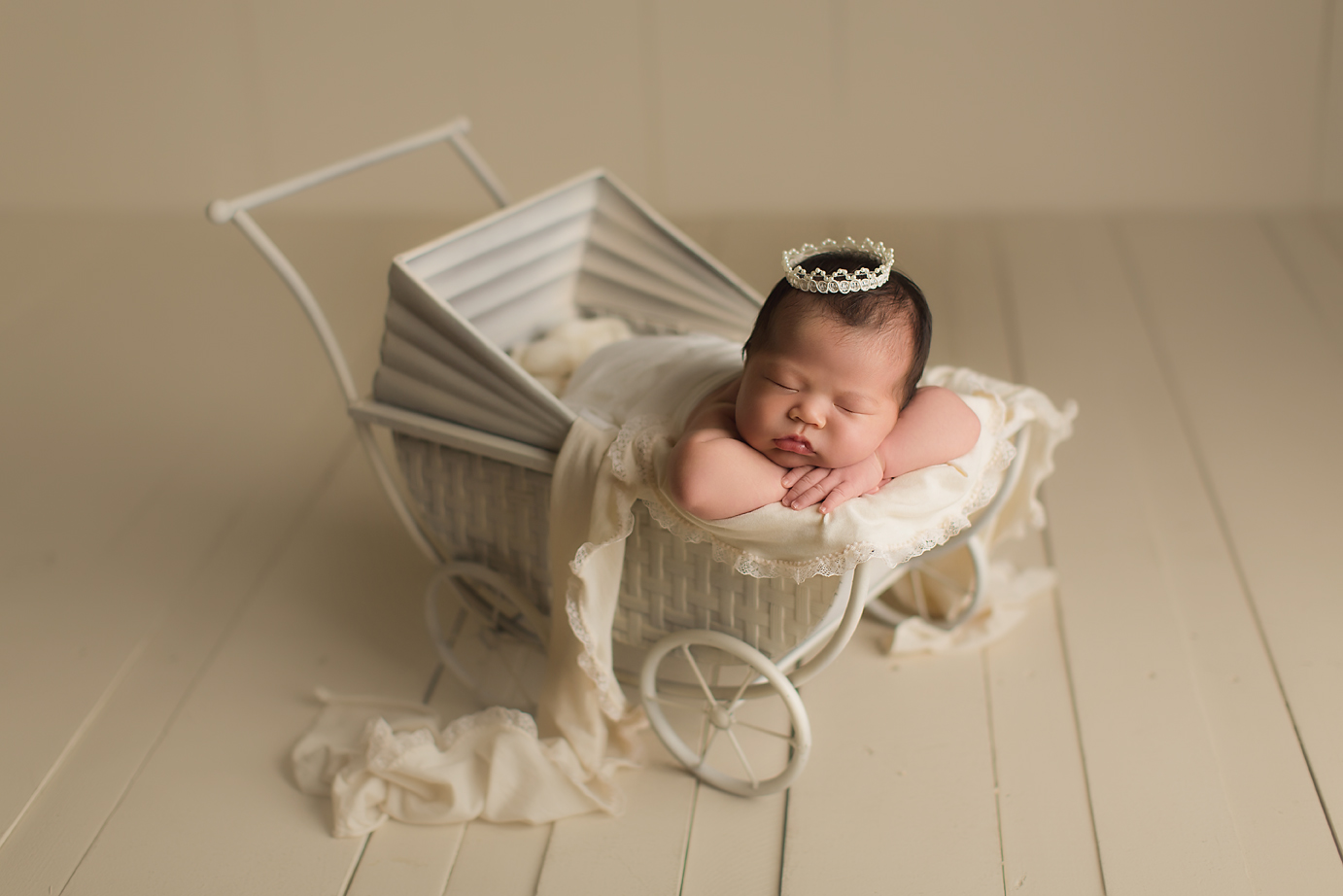 orange-county-newborn-photography-studio-baby-girl-white-vintage-pram-crown.jpg