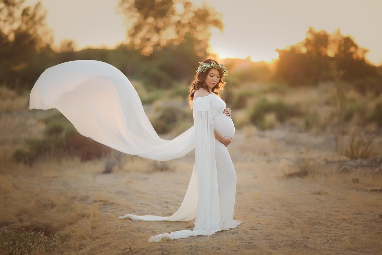 orange-county-maternity-photographer-irvine-nature-gown-toss-flowy-field.jpg