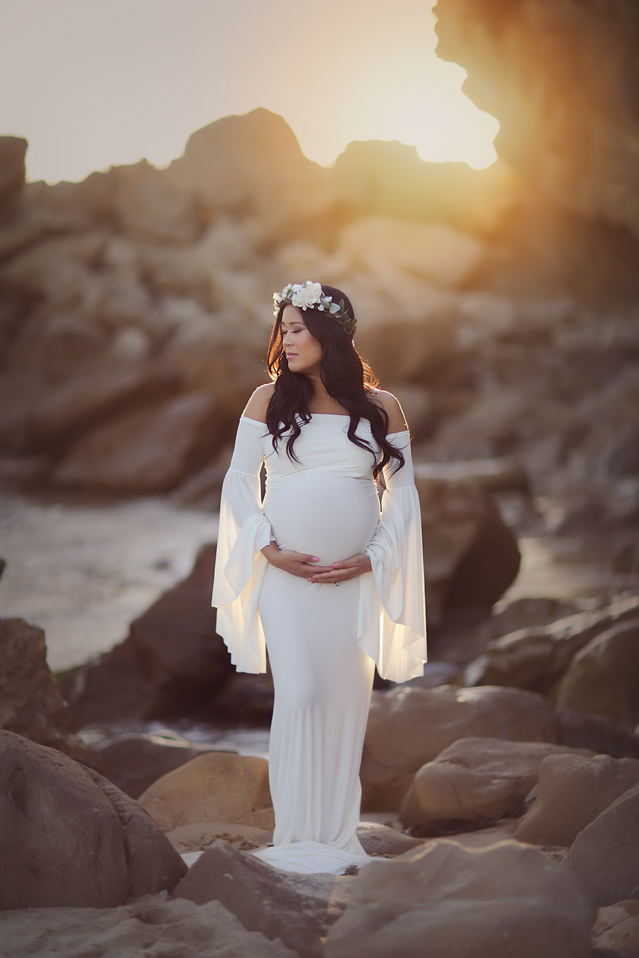 orange-county-maternity-beach-photography-sunset-gown-floral-crown.png