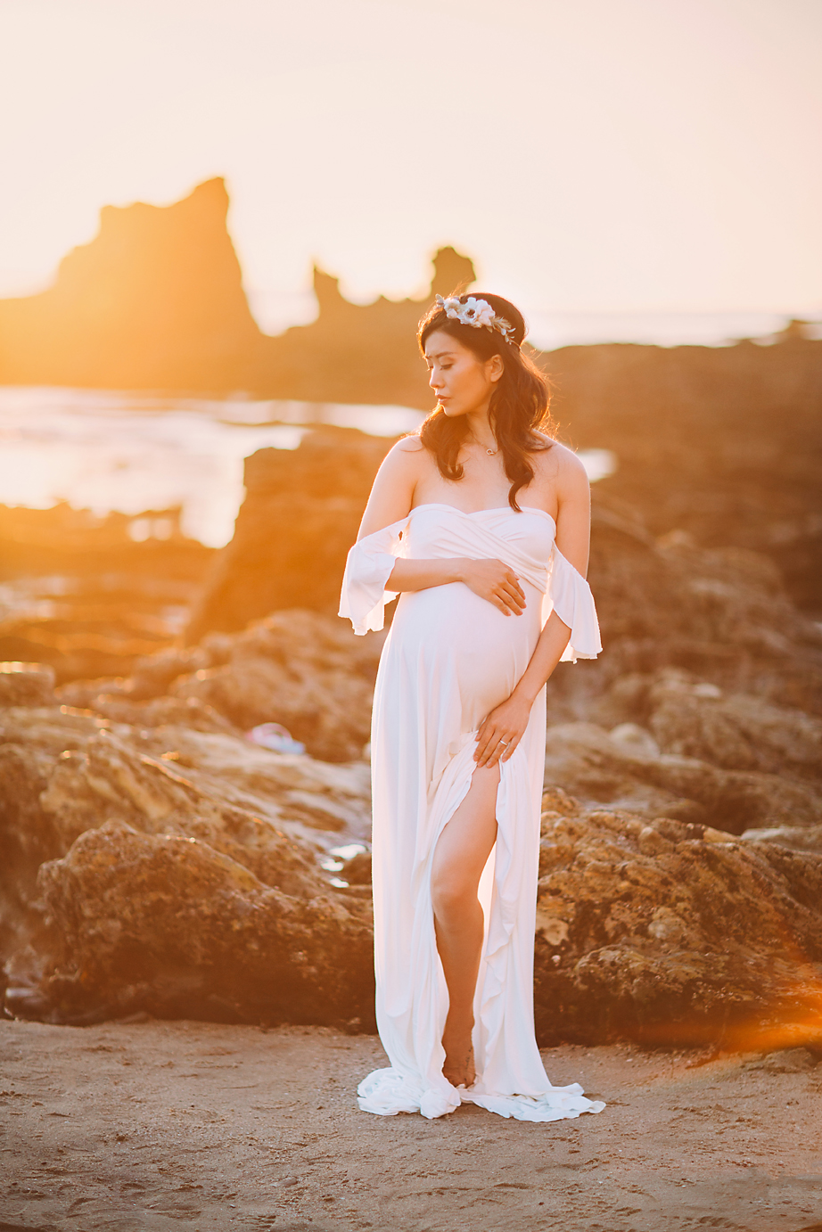 orange-county-maternity-photographer-irvine-studio-newport-beach-sunset-shoot-maternity-gown.jpg