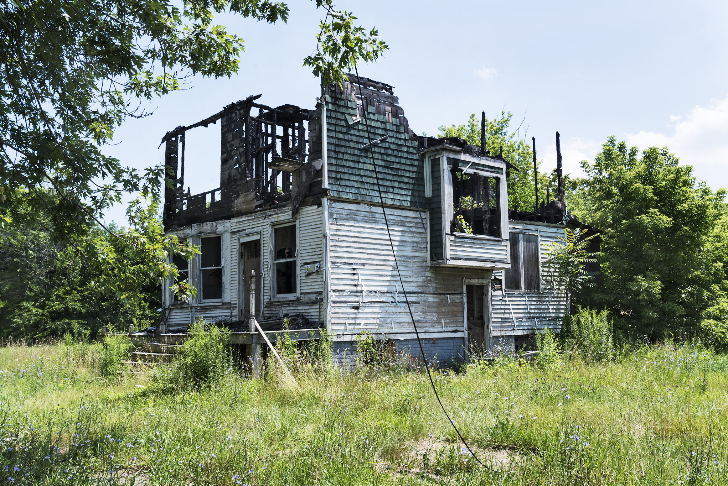 Burned House, Detroit 2018