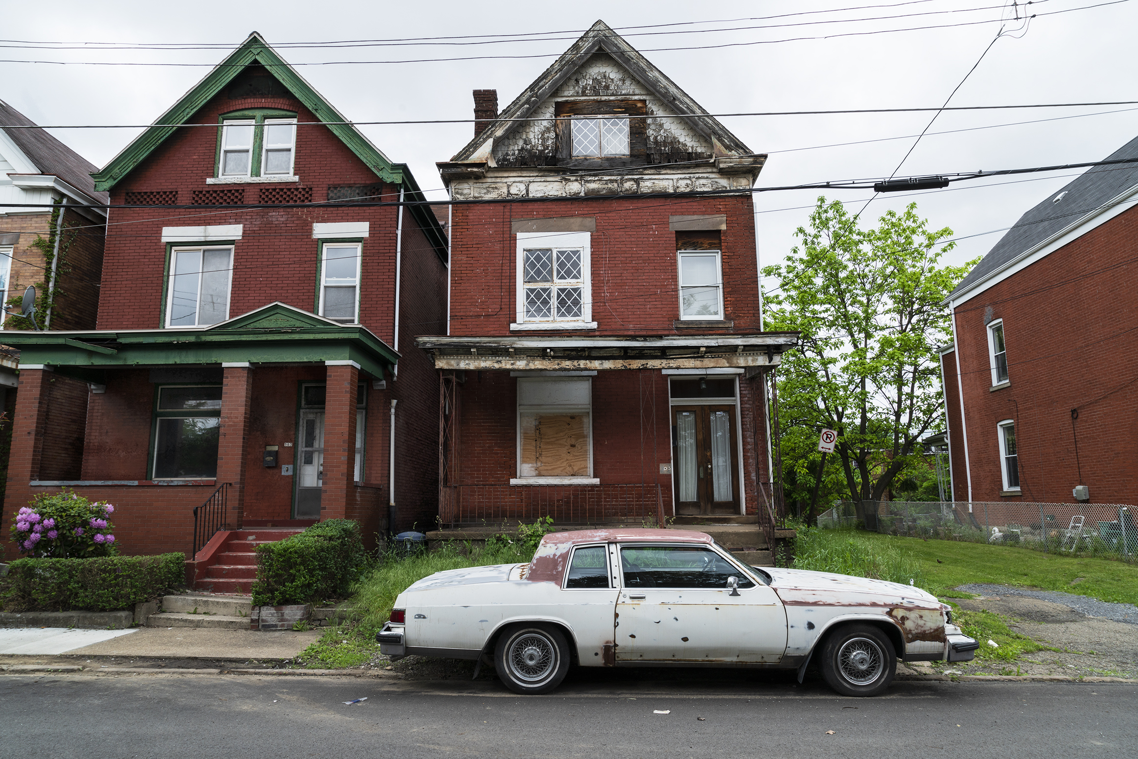 Brick House with Old Car, Pittsburgh 2018