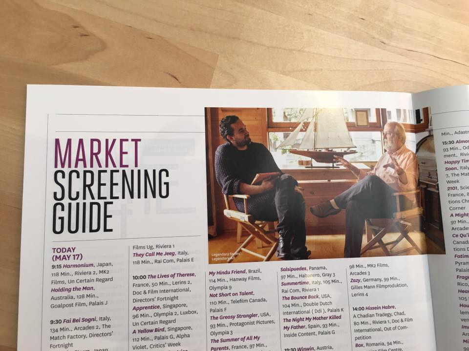 THE HOLLYWOOD REPORTER N7 where our   LEGENDARY AD is suggested to be seen at CANNES FILM FESTIVAL! Great article!