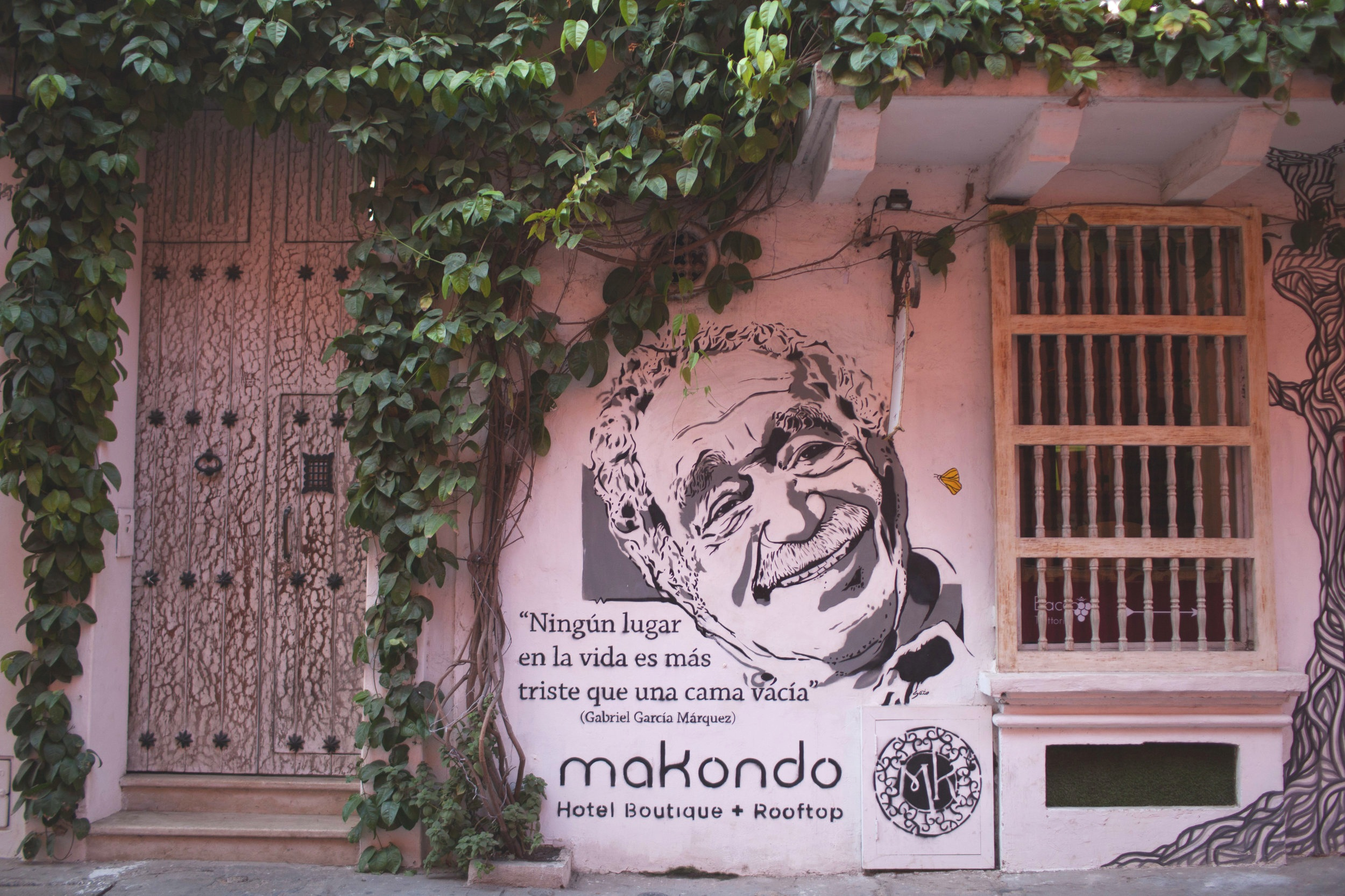 Painting of Gabriel Garcia Marquez in Cartagena