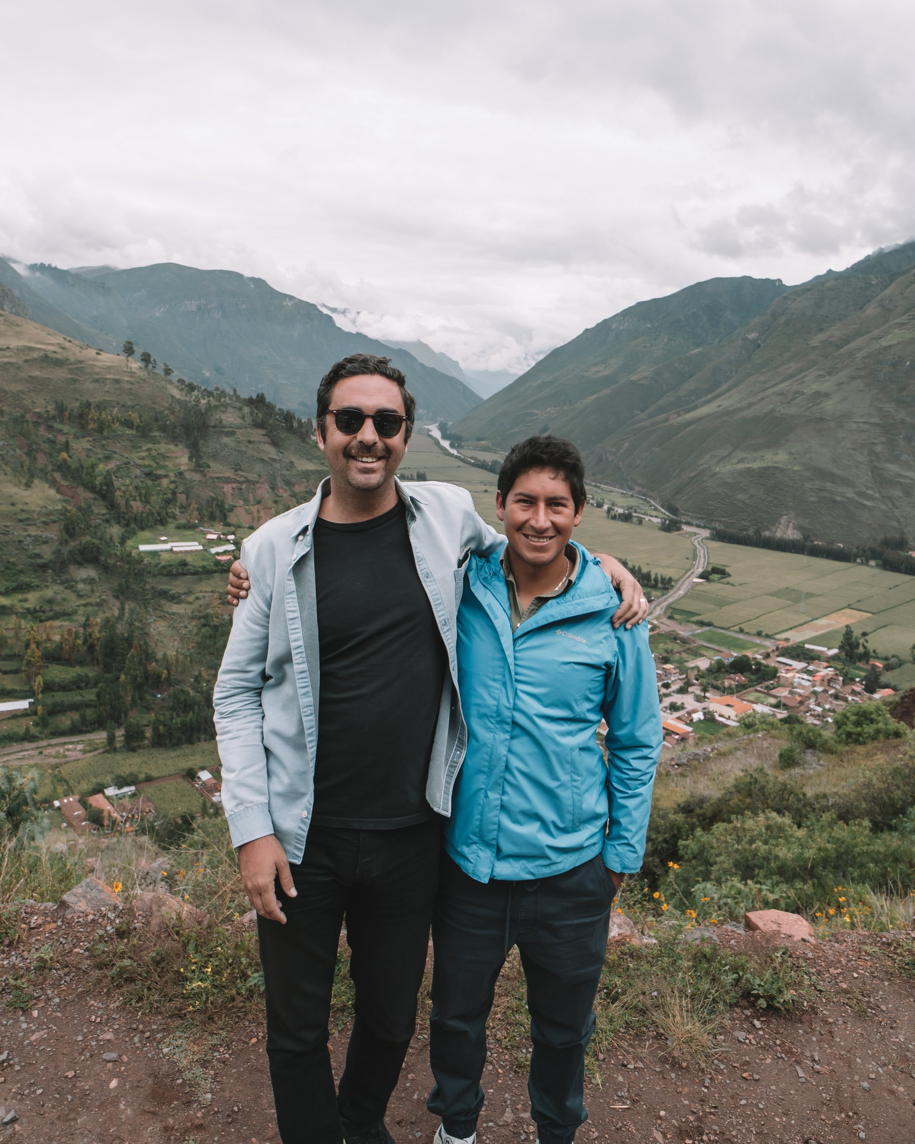 Fernando (our trip host) and I in Cusco, Photo by  Juan Bustabad