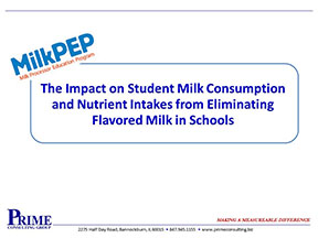 Impact on Milk Consumption & Nutrient Intakes from Eliminating Flavored Milk in Schools 2011.jpg