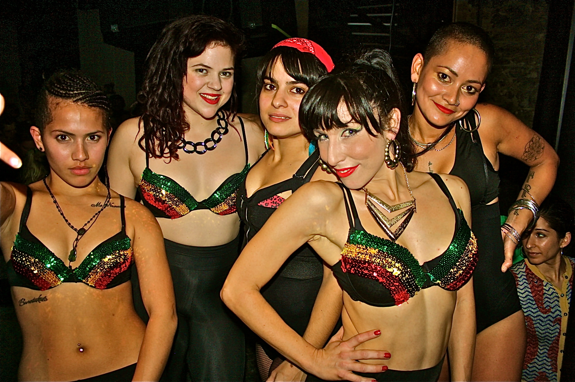 Members of Burncity Queenz with leader KittyCat (right). Photo credit: Quashani Bahd