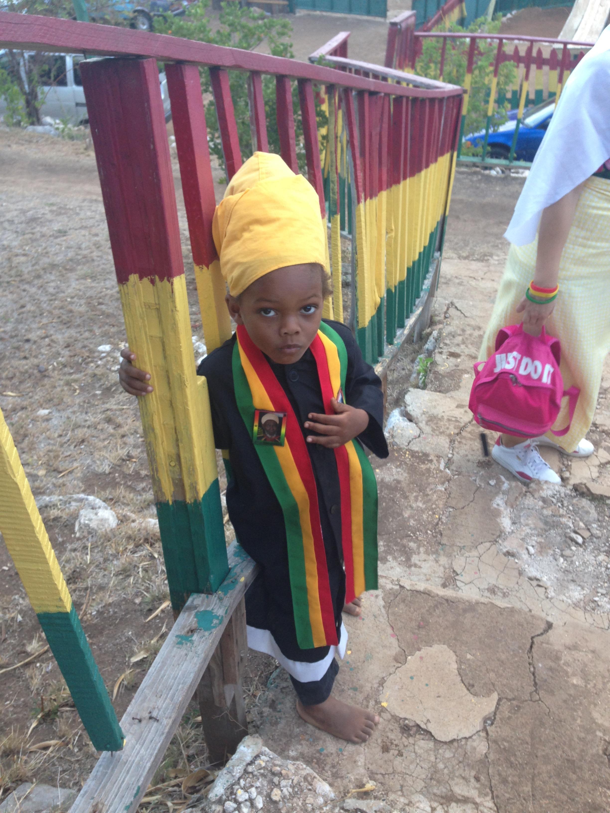 Cute Rasta Boy at the Rasta Village
