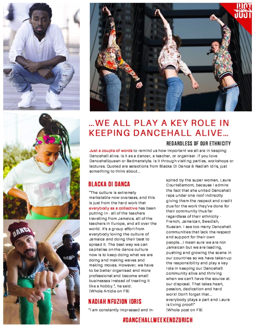 Article feature for Dancehall Weekend in Zurich hosted by Just Kiki
