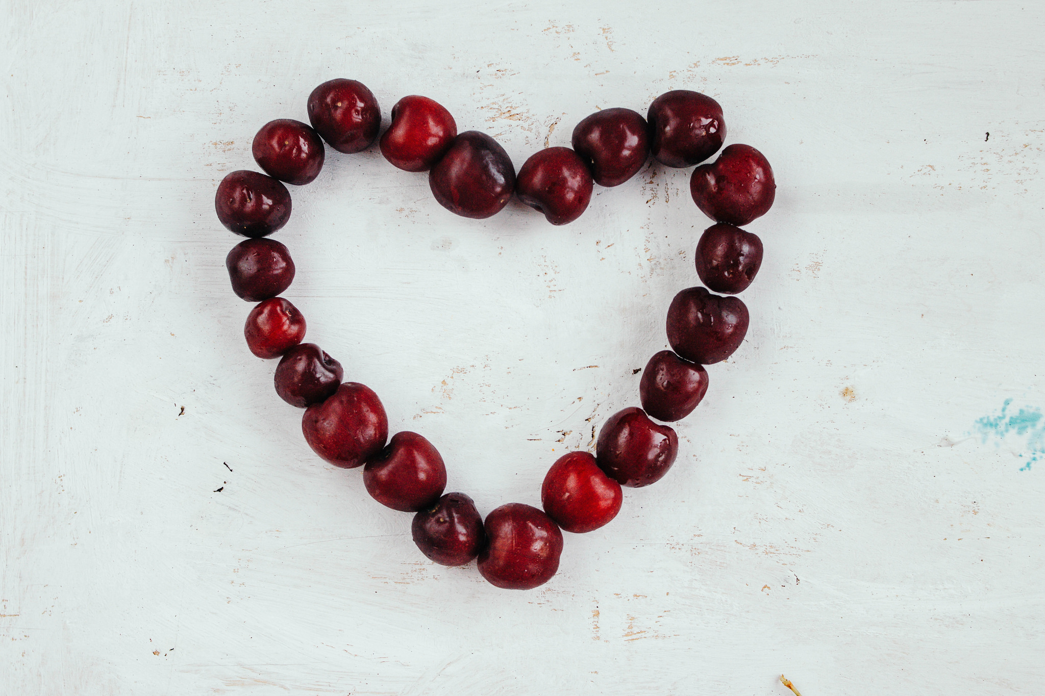 Heart made with cherries by Marco Verch