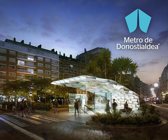 Project : Metro de Donostiadea   Role:  Contracted by Snøhetta as consultants on parametric geometry and building of scale models   Photo:  MIR