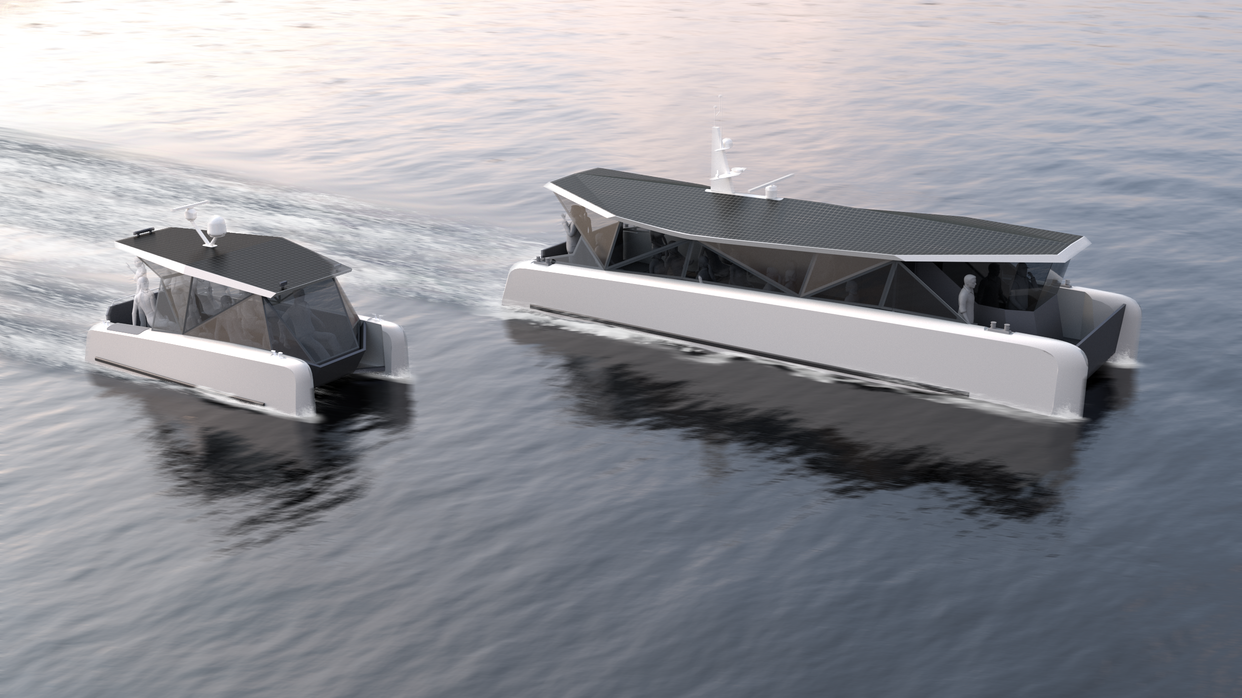 Solar fuelled ferry - Marine design