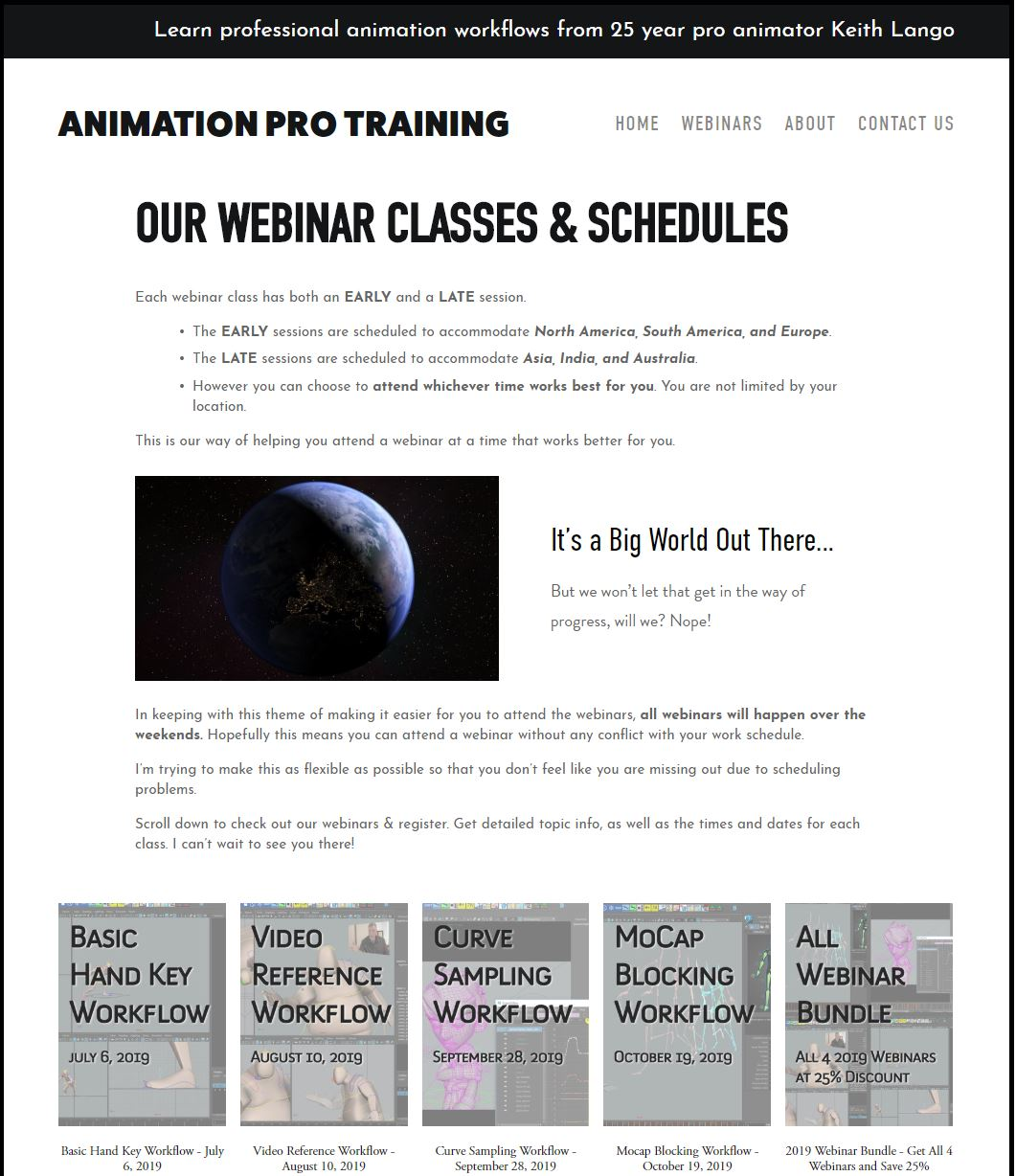 We have a new website, too! - Go check out the webinars now