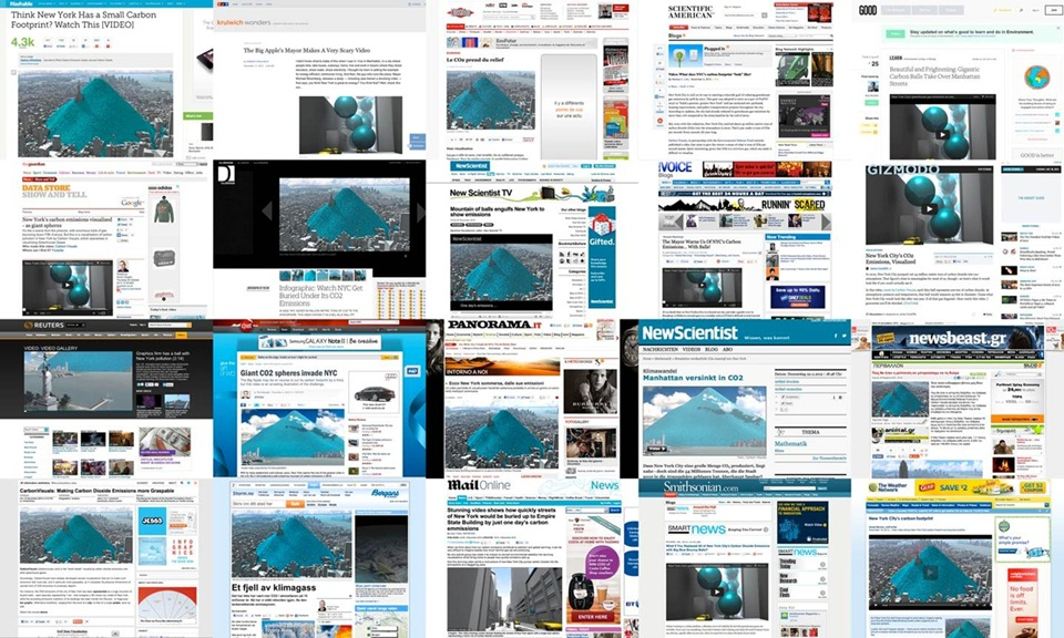 A selection of websites and blog posts where the New York emissions video has been displayed